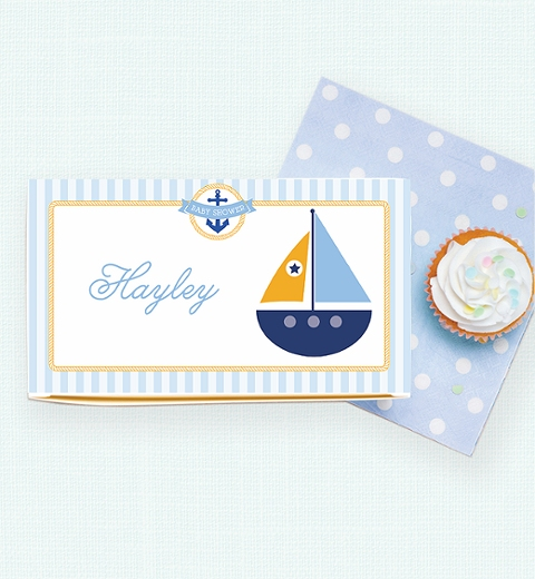 Nautical Baby Shower Lunch Box
