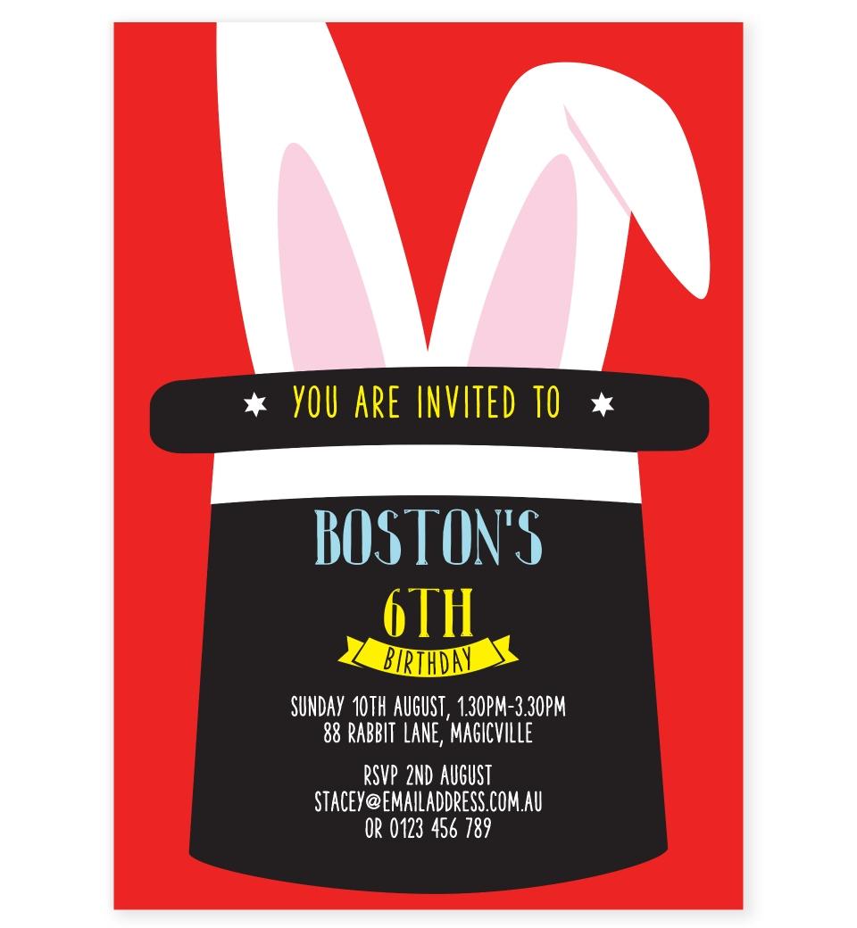 Magic Party Invitation | Love JK