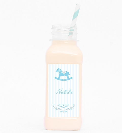 Rocking Horse Blue Drink Bottle