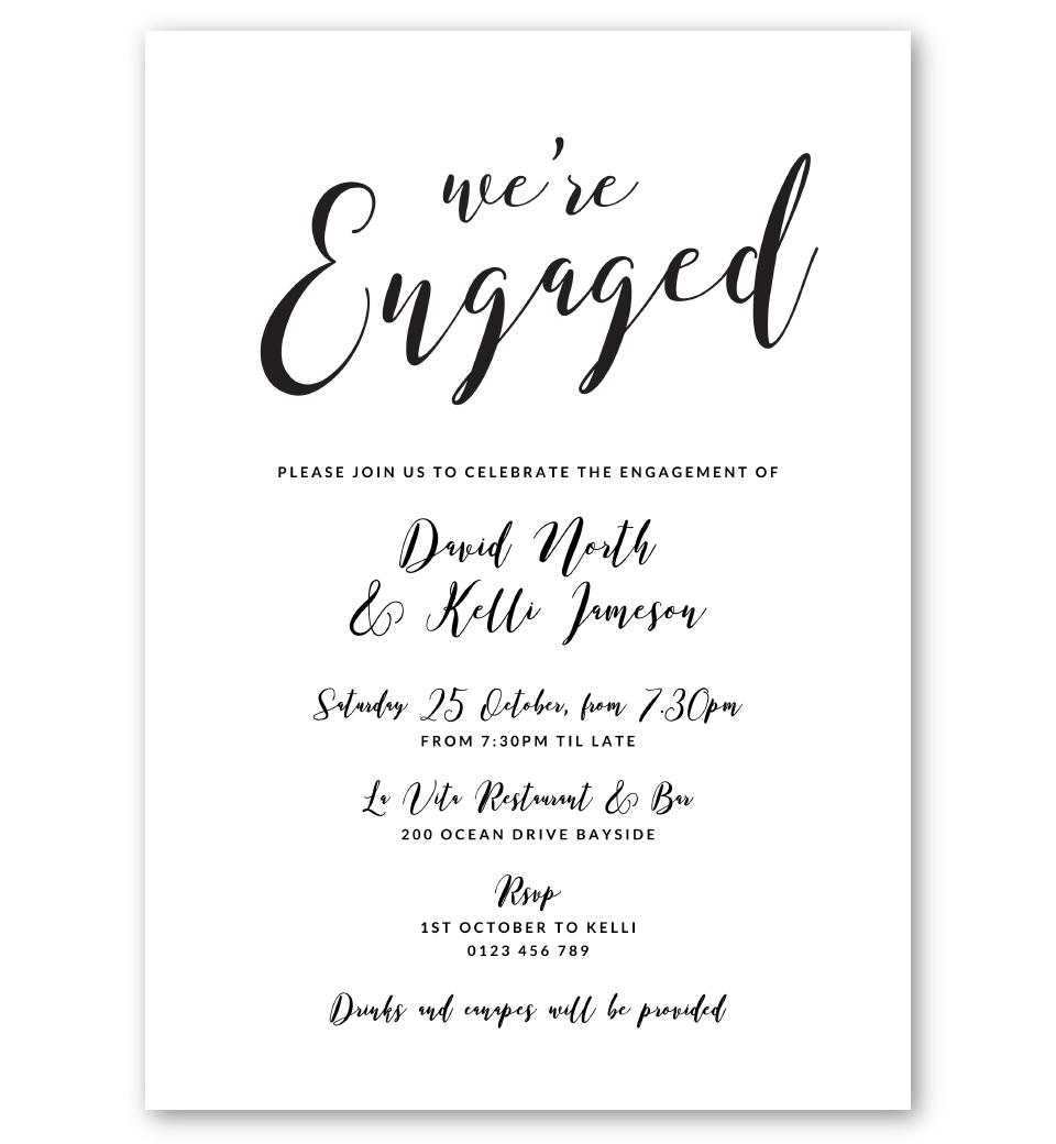 script engagement invitation  love jk
