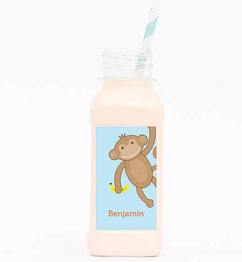 Cheeky Monkey Party Milk Bottle Label