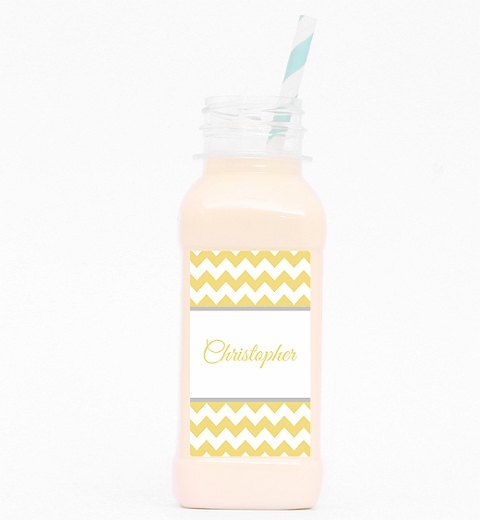 Lemon Chevron Juice Bottle