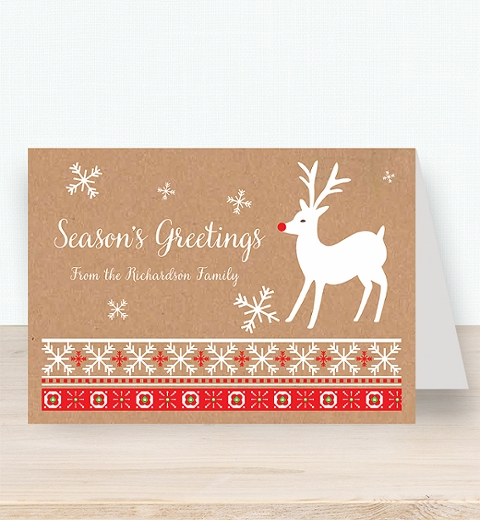 Kraft Rudolph Christmas Card