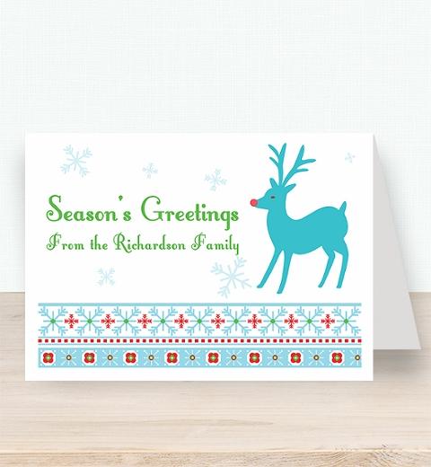 Nordic Rudolph Christmas Card