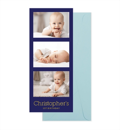 Front & Baby Blue Envelope