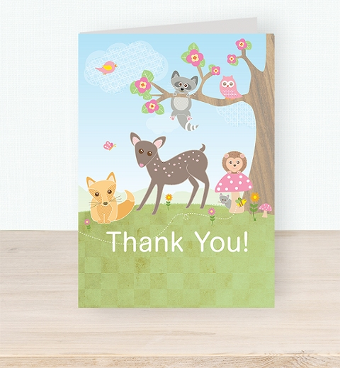 Forest Friends Thank you Card