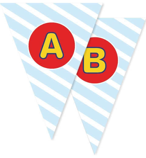 Fire Engine Party Bunting Flags