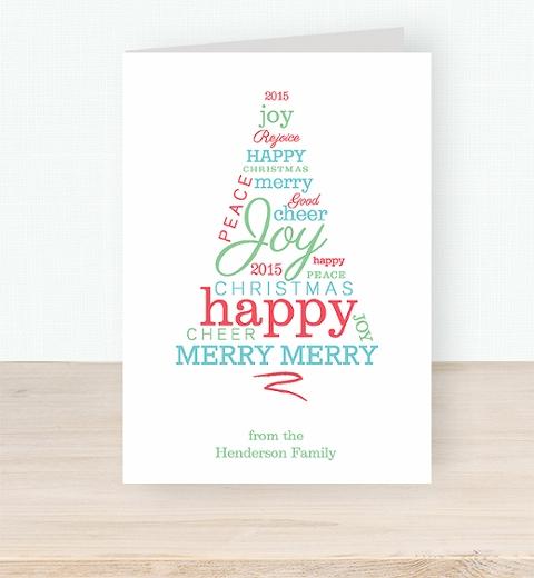 Typographic Christmas Tree Card