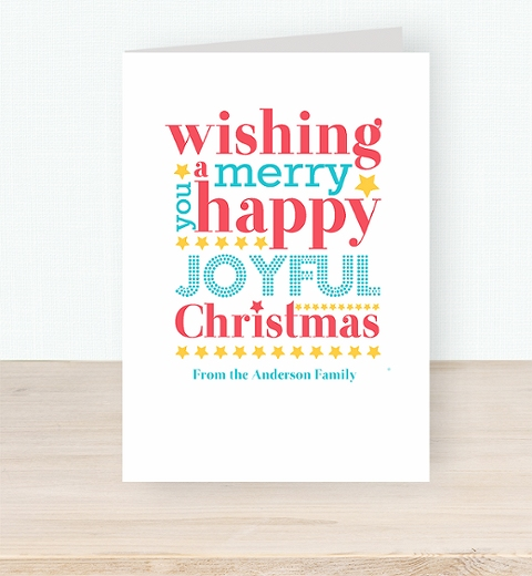 Joyful Christmas Wishes Card