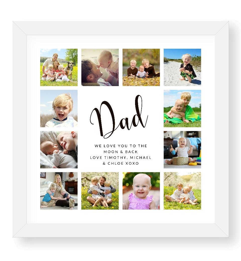 Dad Photo Collage Love Jk