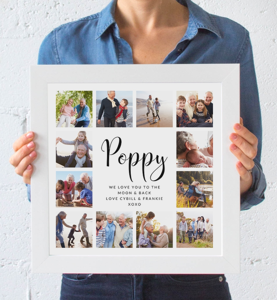 Customisable Photo Collage Fathers Day Love Jk