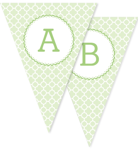 Mint Quatrefoil Flags