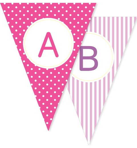 Pink & Mauve Bunting Flags