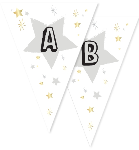 Black Twinkle Twinkle Little Star Bunting Flags