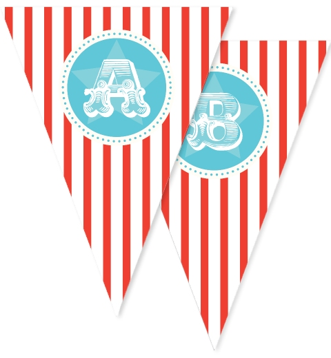 Classic Circus Party Bunting Flags