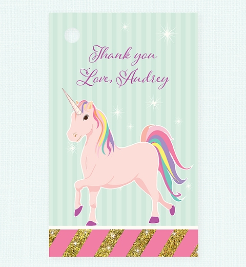 Unicorn Party Thank-you Tag