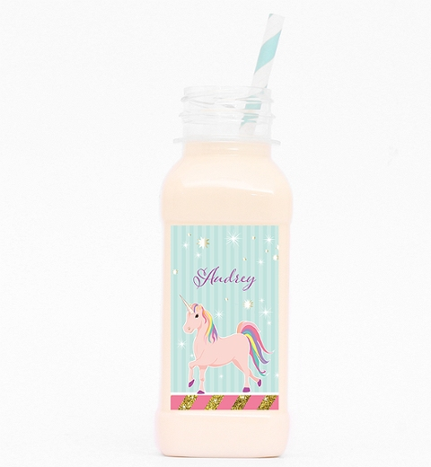 Unicorn Party Juice Bottle
