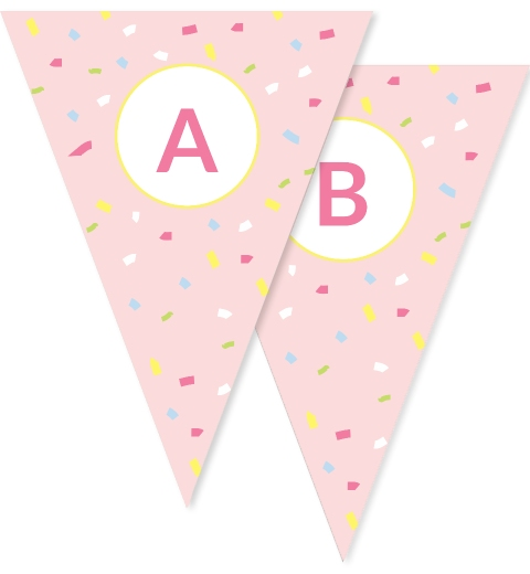 Pastel Confetti Ice Cream Party Bunting