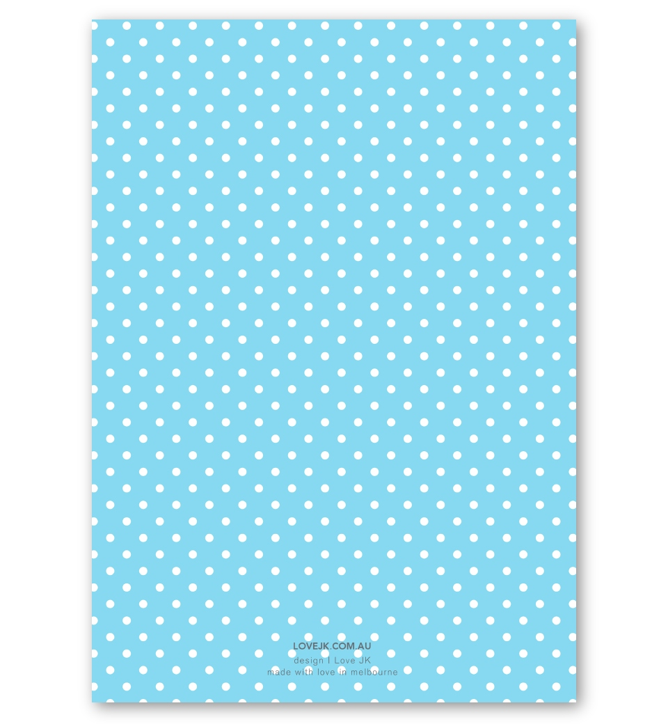blue polka dot invitation love jk