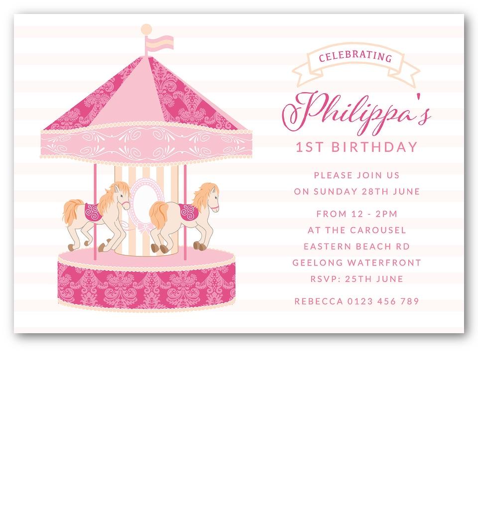Carousel invitation front stopboris Gallery