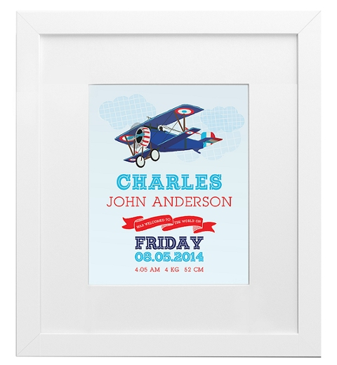 Aeroplane Birth Print