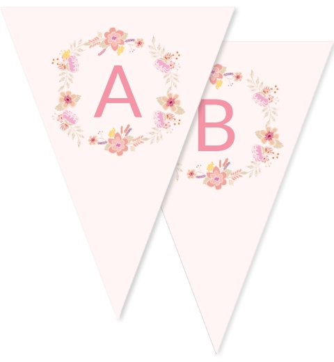 Floral Wreath Bunting Flags