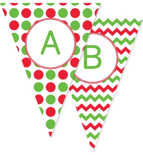 Chevron and Polkadot Christmas Bunting