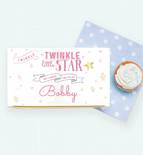 Twinkle Twinkle Little Star -Pink Lunch Box