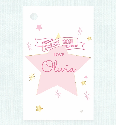 Twinkle Twinkle Little Star -Pink Thank-you Tag