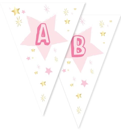 Twinkle Twinkle Little Star -Pink Bunting