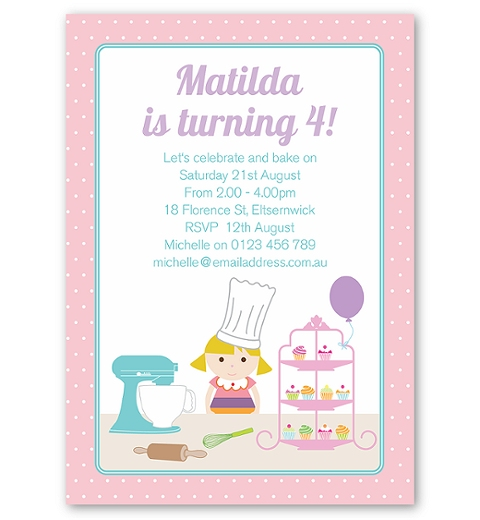 Celebrate 'n' Bake Invitations