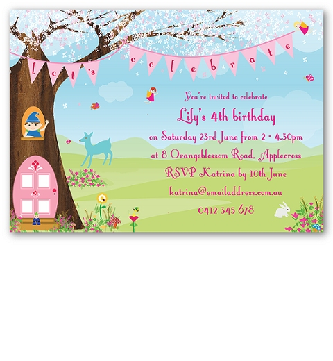 Magic Faraway Tree Invitation