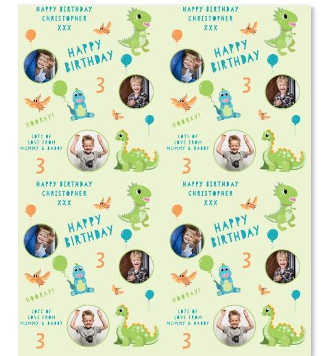 Birthdaysaurus Wrapping Paper