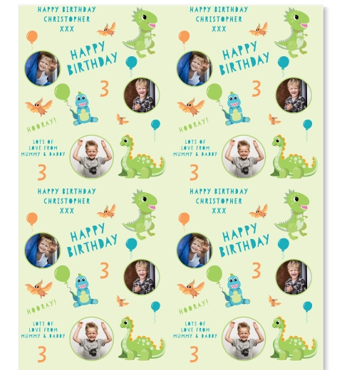 Birthdaysaurus Wrapping Paper