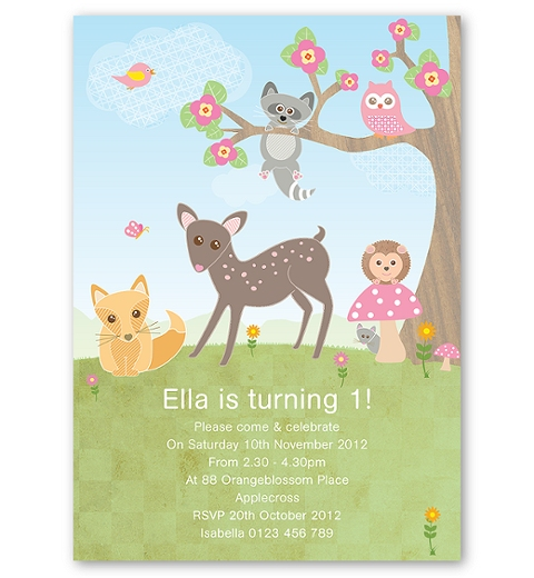Forest Friends Invitation