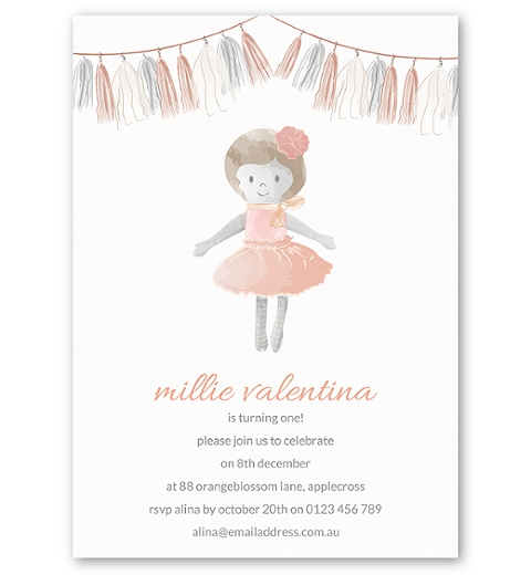 Dolly Birthday Invitation