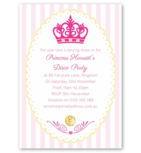Princess Disco Invitation