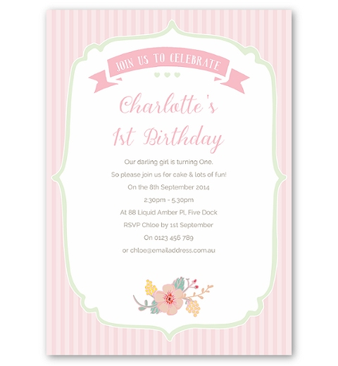 Floral Birthday Party Invitation