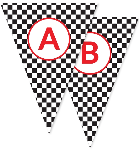 Motorsport Race Car Bunting Flags