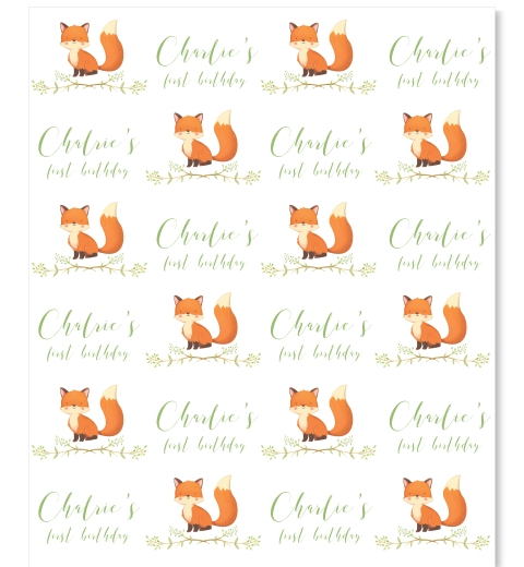 Little Fox Gift Wrap