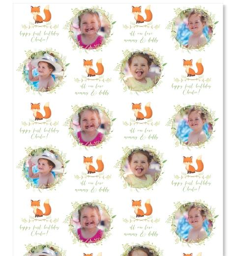 Little Fox Photo Gift Wrap