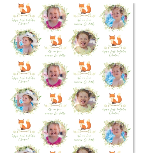 Little Fox Photo Gift Wrap