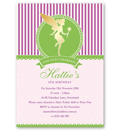 Magical Fairy Birthday Invitation
