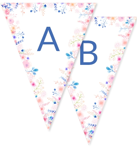 Floral Border Bunting Flags
