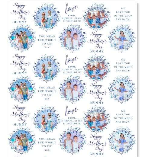 Royal Florals Mother's Day Wrapping Paper