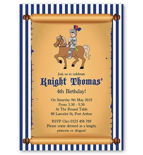 Little Knight Invitation