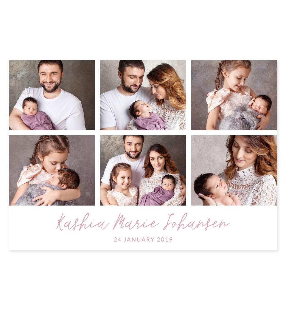 6 Photo Collage Landscape In Pink Love Jk