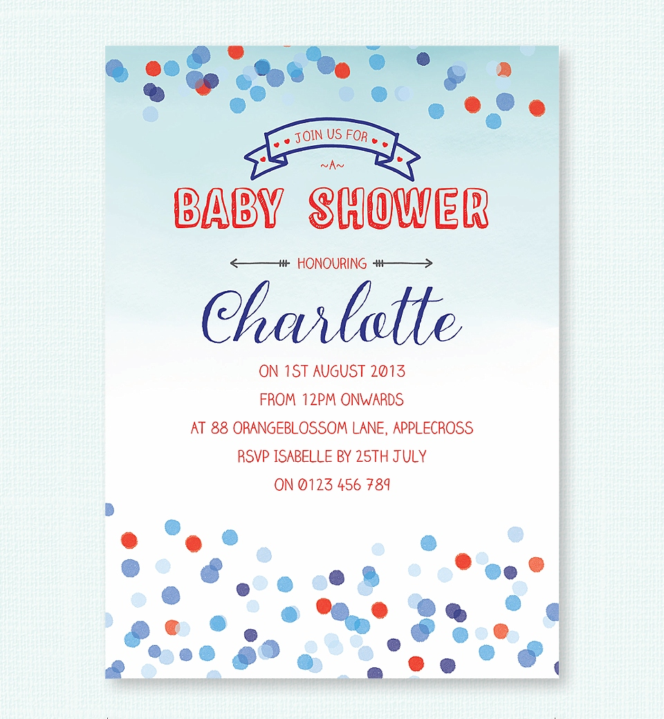 home baby shower themes baby shower invitations confetti baby shower