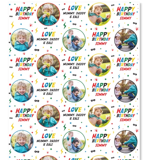 Heroes Party Gift Wrapping Paper