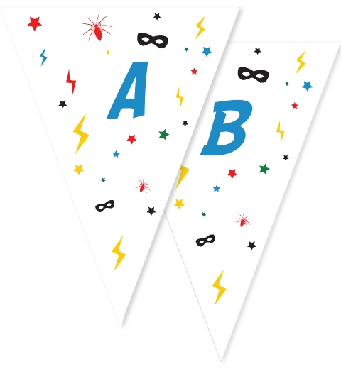 Heroes Party Bunting Flags